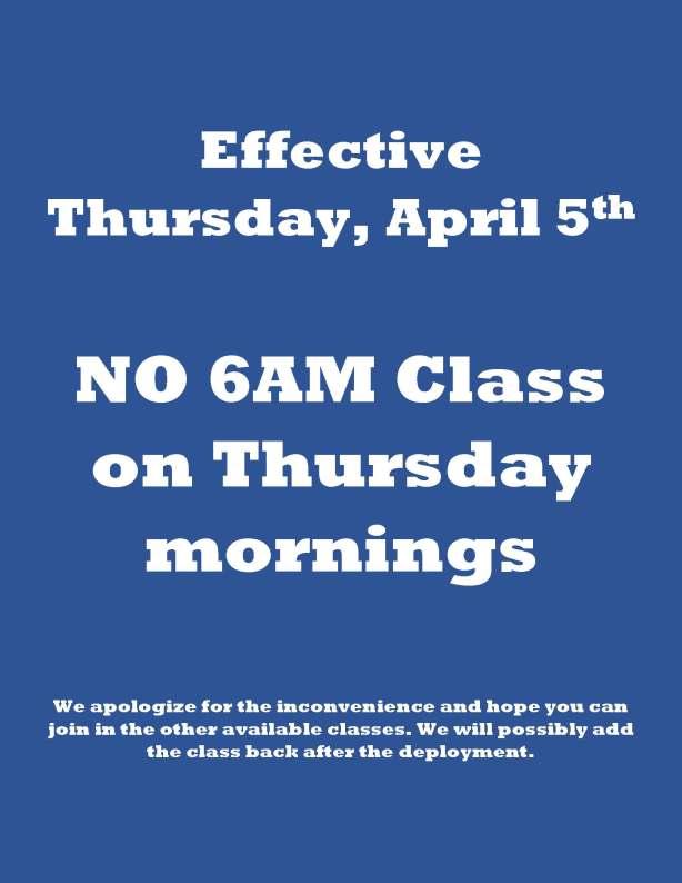 Class Cancellation